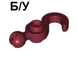 ! Б/У - Hook with Tow Ball, Dark Red (30395 / 6008602) - Б/У