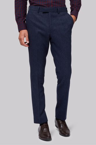 Брюки Moss London Blue Donegal Trousers