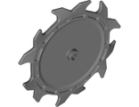 Technic, Circular Saw Blade 9 x 9 with Frictionless Axle Hole and Teeth in Alternating Directions, Dark Bluish Gray (37495 / 6228829)