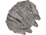 Wheel Hard Plastic with Small Cleats and Flanges, Flat Silver (64712 / 6094081)