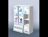 Детский шкаф с выдвижными ящиками