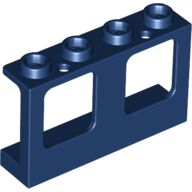 Window 1 x 4 x 2 Plane, Single Hole Top and Bottom for Glass, Dark Blue (61345 / 6097407 / 6186018)