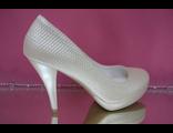 Туфли свадебные айвори перламутр на платформе № А2615Д=17