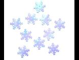 Пайетки снежинка белая Цена за 10 гр.