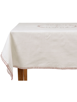 Скатерть BREV-COMPT WHITE 140X140CM COTTON