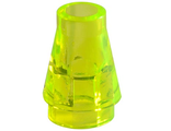 Cone 1 x 1 with Top Groove, Trans-Neon Green (4589b / 4567334 / 618849)