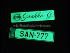 Брелок с ювелирной смолой светящийся в темноте, двухсторонний (гос номер авто + любое изображение, надпись)