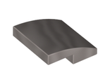 Slope, Curved 2 x 2 No Studs, Flat Silver (15068 / 6083508)