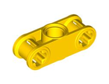Technic, Axle and Pin Connector Perpendicular 3L with Center Pin Hole, Yellow (32184 / 4125498 / 6037676)