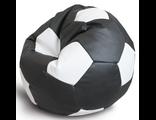 Кресло-мяч черно-белый, Ø100 см, экокожа