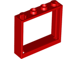 Window 1 x 4 x 3 - No Shutter Tabs, Red (60594 / 4583716 / 6138800)