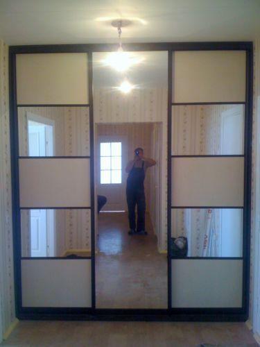 Варианты дверей-купе - двери-купе зеркало вставка лдсп.