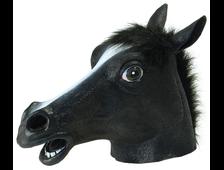 маска лошади чёрная, маска коня чёрная