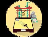 Купить настольный японский мини-садик в подарок (праздничный предзаказ)