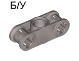 ! Б/У - Technic, Axle and Pin Connector Perpendicular 3L with Center Pin Hole, Pearl Light Gray (32184 / 4177429) - Б/У