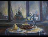 """Круглова Ирина """"Пасха"""", холст / масло,  50 х 70 см., 2015 г."""