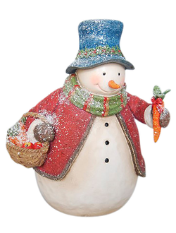 Елочная игрушка DECORATIVE SNOWMAN NIEVA 18X15X22CM RESINарт.31385