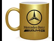 """Кружка с логотипом авто """"Золотая"""""""