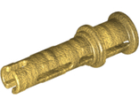 Technic, Pin 3L with Friction Ridges Lengthwise and Stop Bush, Pearl Gold (32054 / 6285441)