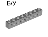 ! Б/У - Technic, Brick 1 x 8 with Holes, Light Bluish Gray (3702 / 4211442) - Б/У