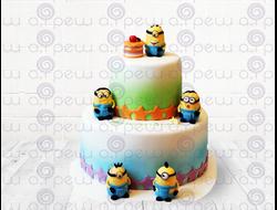 """Торт № 19 """"С миньонами"""" (Детские торты)"""
