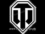 Наклейки WORLD of TANKS ( 40 р.) логотип на авто для поклонников и фанатов игры WOT, Ворлд Оф Танкс.