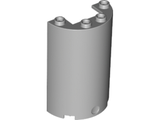Cylinder Half 2 x 4 x 5 with 1 x 2 Cutout, Light Bluish Gray (85941 / 6153484 / 6246886)