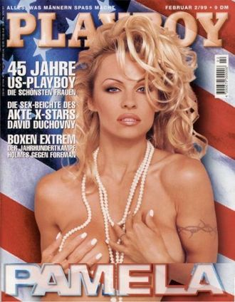 PLAYBOY Germany Magazine February 1999 Pamela Anderson Cover МУЖСКИЕ ИНОСТРАННЫЕ ЖУРНАЛЫ