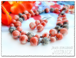 Купить украшения. Украшения из натуральных камней. Колье и серьги из коралла. Коралловые бусы купить