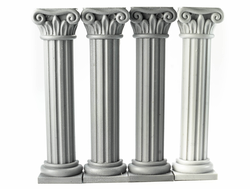 Four pilasters (unpainted)