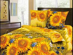 СОЛНЫШКО.  Комплект постельного белья из набивной бязи традиции текстиля, цельнокройное, хлопок 100%