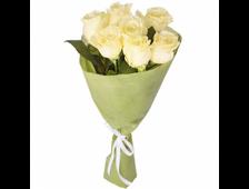 Букет 7-9 роз Семь Белых
