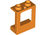 Window 1 x 2 x 2 Plane, Single Hole Top and Bottom for Glass, Orange (60032 / 6074035 / 6224246)