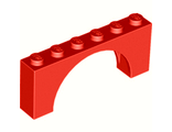 Brick, Arch 1 x 6 x 2 - Thin Top without Reinforced Underside, Red (12939 / 6040248)