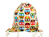 Молодежный пляжный рюкзак совы
