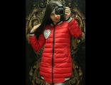 Женская весенняя куртка красная 002-124