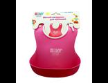 Силиконовый нагрудник для кормления roxy kids розовый