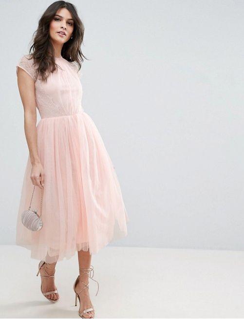 6a5219b9d5d8860 Светло-розовое коктейльное платье с пышной юбкой - прокат платьев  Rentaholic в Уфе