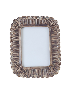 Фоторамка  21X26CM PHOTO FRAME BOUCLE TAUPE  POLYRESIN 29955
