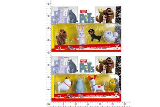 "Герои""THE SECRET LIFE OF PETS"" HT16473) 4героя,2вида,на планш.29*18см"