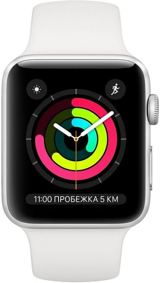 Apple Watch Series 3, 42mm Silver/White