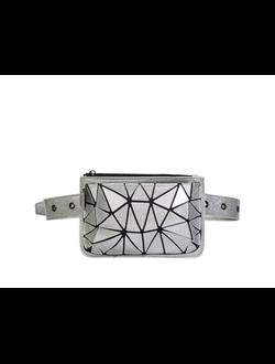 Поясная сумка SABELLINO ; силикон; серебро