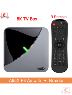 8K Smart TV box A95XF3 Air приставка Android 9.0 чип S905X3 16/32/64