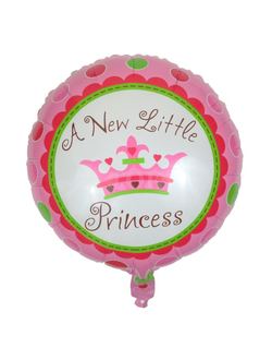 "шар круг ""A new little princess"" 45 см"