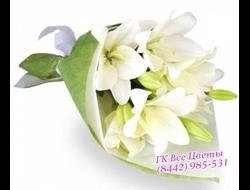 Белый букет из Лилий