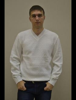 """Осенне-весенний мужской свитер Модель В735Д """"Белый мысик"""""""