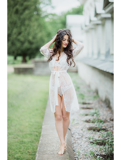 Кружевной халатик на утро невесты Эмма