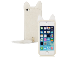 Чехол Luxury Velvet Cat (Пушистый Кот) для iPhone 5, iPhone 5S