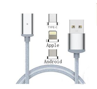 Кабель зарядный HOCO Magnetic data cable U16 Micro 3 в 1