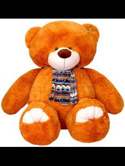 Большой карамельный плюшевый медведь Елисей (150 см)